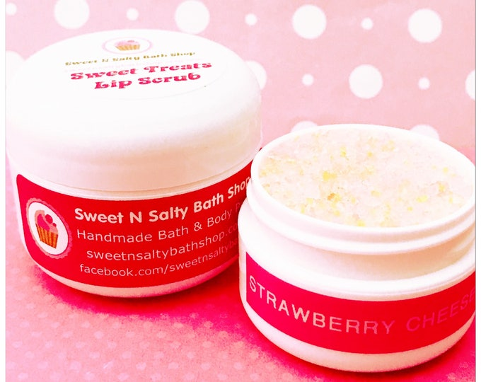 Strawberry Cheesecake Flavored Lip Scrub