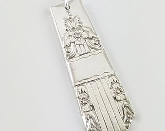 Vintage flatware necklace -Sterling silver -Flatware jewelry -Jewelry By A.H.