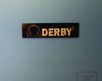 Derby sign. Kentucky Derby sign. Derby party decor. Jockey silk. Kentucky Derby. Wall decor. Horse Racing. Thouroughbred Horses. Derby Time.