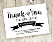 Thank You Card - Printable - Instant Download - Thankful  - Skin - 5x3.5 - Rodan and Fields