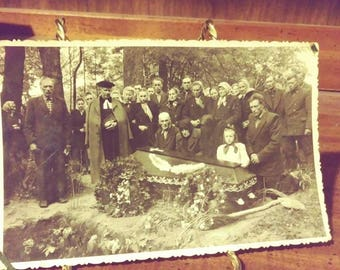 Vintage Funeral Photograph Dated 1955