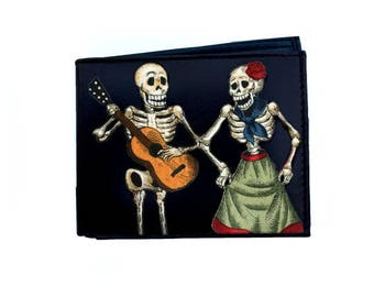 Leather Wallet Skeleton Couple #106
