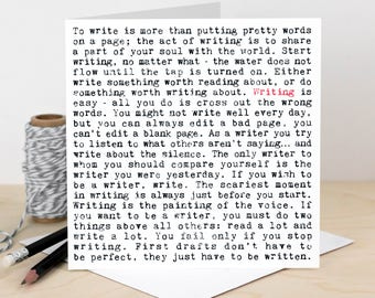 Writing Card; Card For Writers; Writers Card; Card For Novelists; Card For Journalists; Off To Uni; Loves Writing; Writing Quotes; GC711