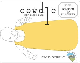 Cowdle Baby Sleep Sack Pattern Newborn to 3 months