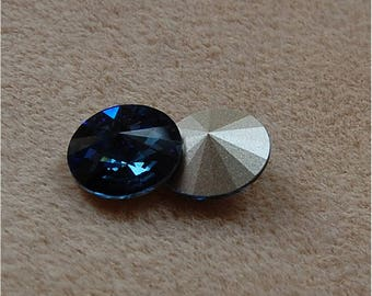 SWAROVSKI Rivoli's, 14mm, Montana, sold as a unit of 2 pieces.