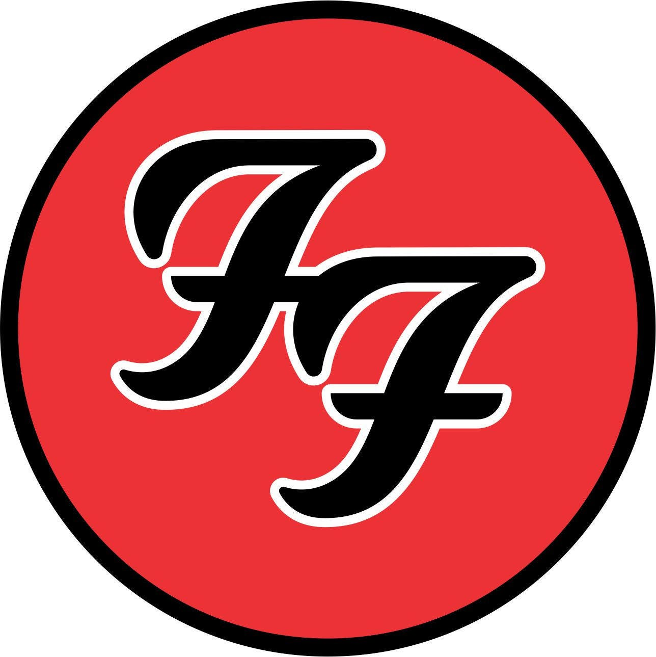 Foo Fighters Vinyl Sticker Decal full colour band logo  Foo Fighters Vi...