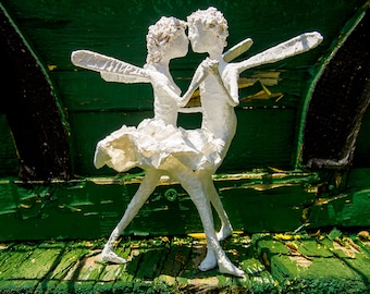 Little Prince Fairy Dancing Sclutpure for Decorations or Wedding toppings