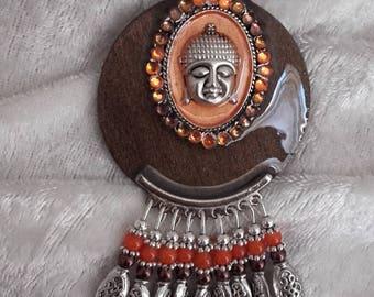 charm pendant buddha handmade necklace