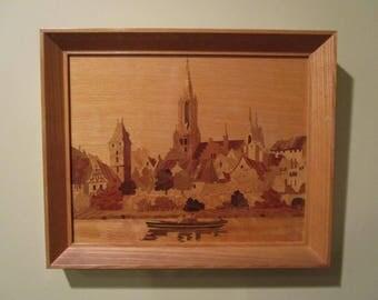 German Wood Inlay Marquetry - Buchschmidt & Gretaux - Ulm on the Danube