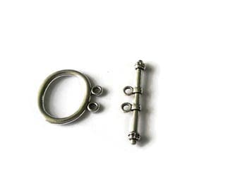 Double Strand Clasp, Two Strand Clasp,Multi Strand Clasp, Toggle Clasp (5pcs),