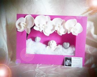 Pink Cherub plant frame to customize
