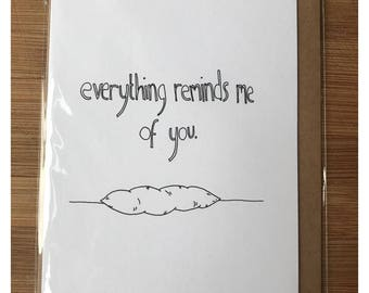 Cute quirky arty gross valentines just because card