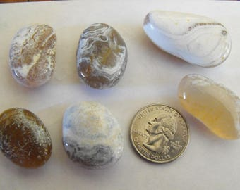 Stones For Pendants, Wire Wrap Jewelry, Polished Agates Lot
