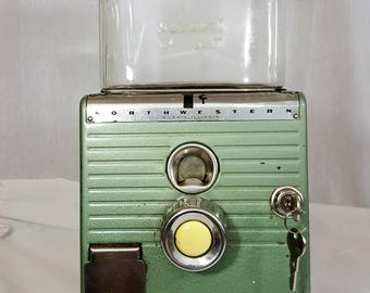 Vintage Rare Green Northwestern Model 49 One Cent Peanut Machine