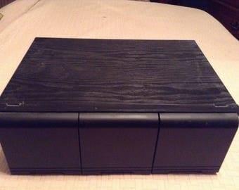 midcentury cdu0027s storage cabinet holds 60 cdu0027s