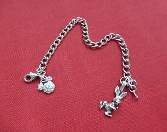 Vintage Disney Mickey Mouse Charm Bracelet & Sterling Bunny
