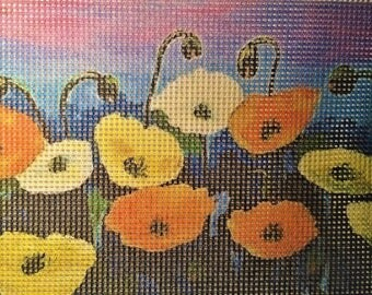 "Needlepoint canvas ""Poppies field"" #PP18"
