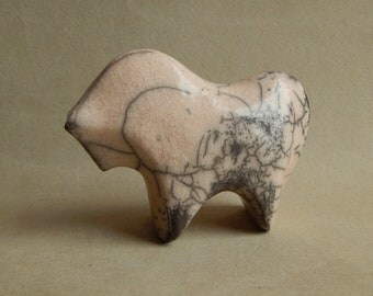 "Ceramic sculpture ""White horse"", ceramics of a cancer, a figure of a horse, animals, birthday present, natural, folklore, rustic"