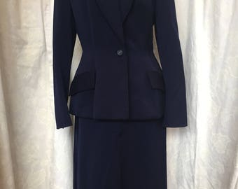 Late 40s Rothmoor Navy wool suit
