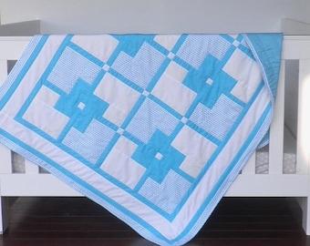 Baby Quilt - Cot Quilt - Baby Bedding - Nursery Decor - Nursery Bedding