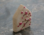 Blossom House Bead in Natural, polymer clay blossom bead, house bead