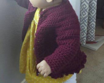 Lovely crocheted toddler sweater (made to order)