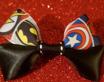 Super heroes hair bow clip