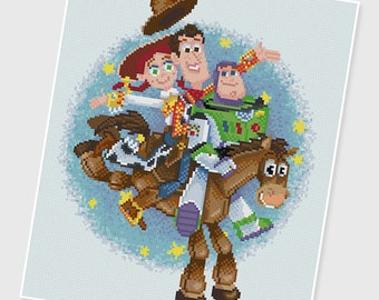 PDF Cross Stitch pattern - 0078.Toy Story - INSTANT DOWNLOAD
