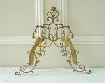 Decorative mount-Pediment-Birds-Peacocks-Antique French-Decoration-Decorative project-Ciel de lit-French treasure