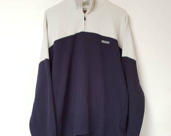 Vintage 1990s Reebok Half Zip Sweater Top