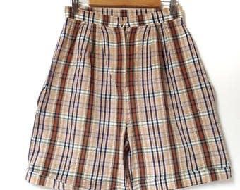 Vintage High Waisted Plaid Shorts