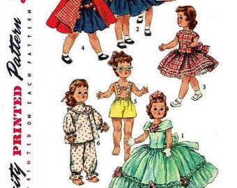 "Copy of 1955 Simplicity Pattern #1405 Doll Clothes Wardrobe for 14-1/2"" Dolls."