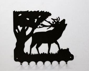 Hangs 26 cm pattern metal keys: deer in the slab