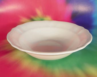 Federalist Ironstone White Round Vegetable Serving Bowl 4238 Made in Japan