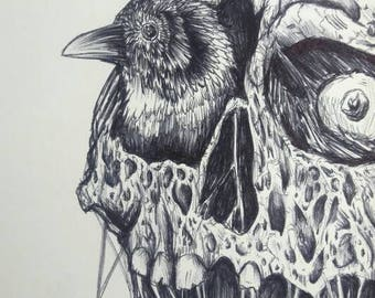 Eye for an eye - Original ballpoint pen drawing