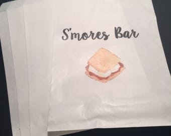 Smores Bar Smores Wedding Favors Fall Shower Birthday Party Favor Gift Bags