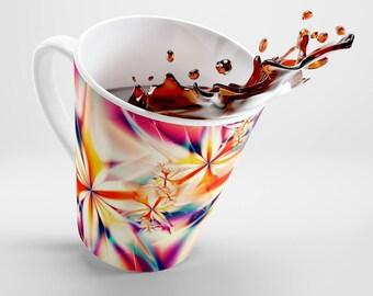 Fractal Flowers  Latte Mug