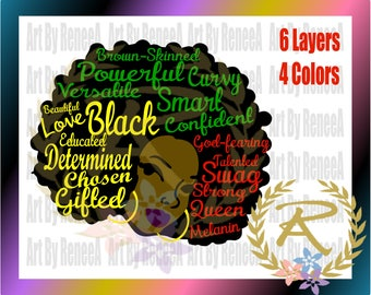 Words of A Black Woman (SVG, DXF, EPS, Studio3)