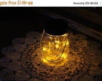 June Clearance Sale Event Mason Jar Solar Lid Light - Yellow - Angel Lights - Firefly Lights - solar mason jar, mason jar light, fairy light