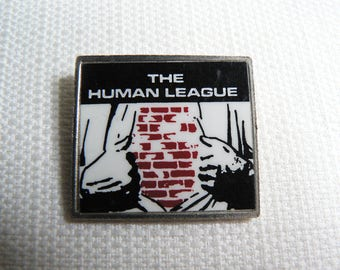 Vintage Late 70s The Human League - Empire State Human Single / Reproduction Album (1979) - Clubman Style Pin / Button / Badge