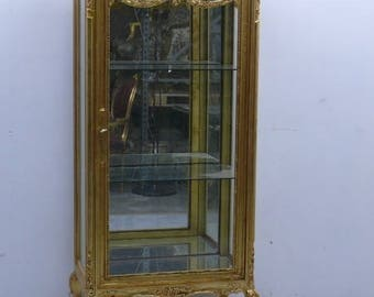Baroque Cabinet, golden, with mirror inside