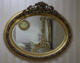 Baroque mirror antique style shock gold AlMi0202Go