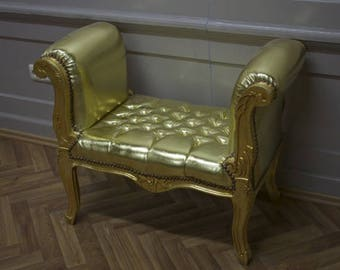 Baroque banquet stool Chair antique style AlSo0319GoSkGo