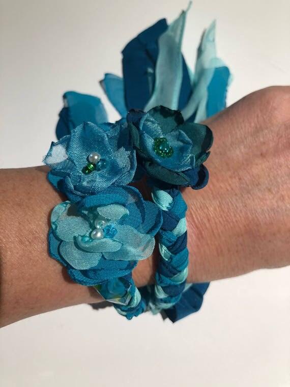 Custom floral braided bracelet. Reserved for Megan.
