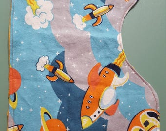 Outer space flannel etsy for Space minky fabric