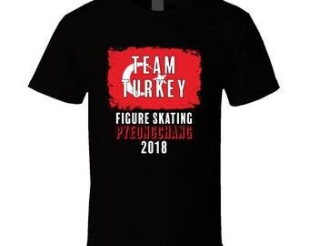 Team Turkey Figure Skating Pyeongchang 2018 Olympic T Shirt
