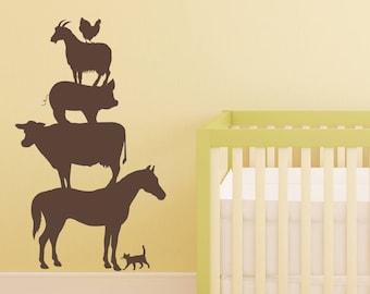 Farm Wall Decals Etsy - Barnyard nursery wall decals