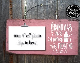 grandma, grandmother, gift for grandma, gift for grandmother, grandmas are moms, grandma Christmas gift, grandma sign, grandma decor