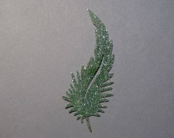 Cut out Pine Green feather