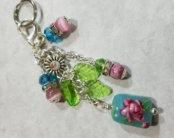 Purse Charm Keychain Charm Handbag Key Chain SUMMER COLOR Purse Charm 780